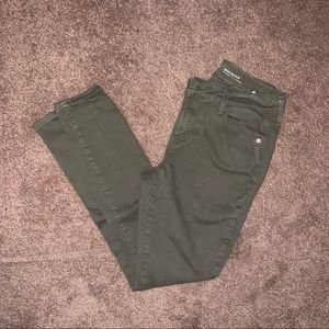 Old Navy Army Green Rockstar Jeans